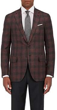 Isaia Men's Sanita Plaid Wool-Silk Two-Button Sportcoat