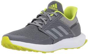 adidas Boys' RapidaRun K Running Shoe, Grey/Grey/Semi Solar Yellow, 5 M US Big Kid