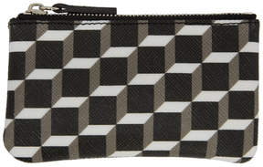 Pierre Hardy Black and White Cube Perspective Coin Pouch