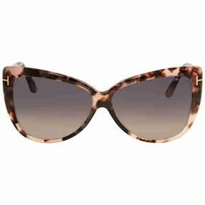 Tom Ford Reveka Smoke Gradient Cat Eye Sunglasses FT0512 55B