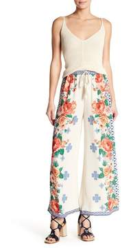 Flying Tomato Floral Print Wide Leg Pants