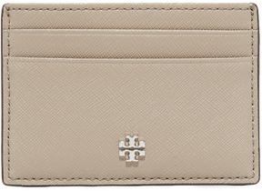 Tory Burch Robinson Slim Card Case - FRENCH GRAY - STYLE