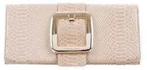MICHAEL Michael Kors Embossed Buckle Clutch - NEUTRALS - STYLE