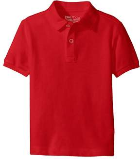 Nautica Short Sleeve Pique Polo Boy's Short Sleeve Pullover