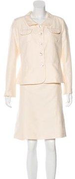 Agnona Woven Skirt Suit