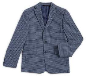 Michael Kors Boy's Check Cotton-Linen Blazer