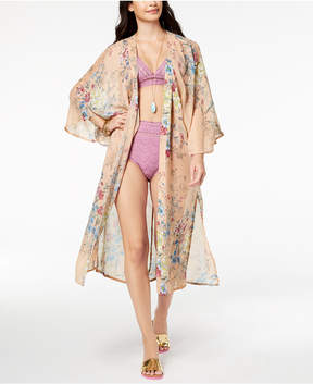 Steve Madden Floral-Print Duster Cover Up