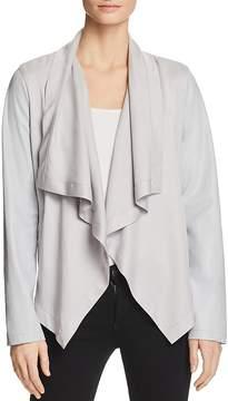Bagatelle Mixed Media Drape Jacket