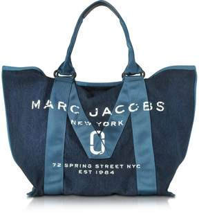 Marc Jacobs Denim Blue New Logo Tote Bag - BLUE - STYLE
