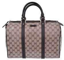 Gucci Crystal Canvas & Leather Guccissima Gg Boston Handbag. - BEIGE/BROWN - STYLE