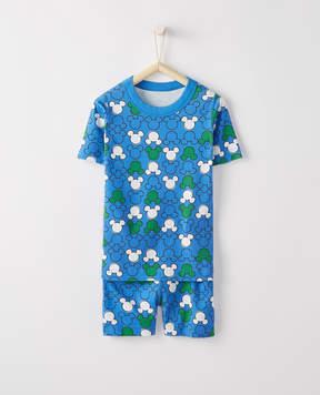 Hanna Andersson Disney Mickey Mouse Short John Pajamas In Organic Cotton