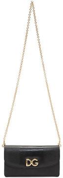 Dolce & Gabbana Black Micro Crossbody Wallet Bag