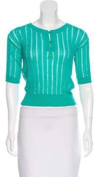 Courreges Knit Button-Up Top