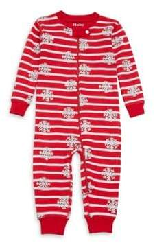 Hatley Baby's Candy Cane Mini Waffle Cotton Coverall
