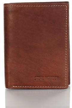 Steve Madden Mens Leather RFID Protection Trifold Wallet