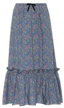A.P.C. Cecil floral cotton skirt