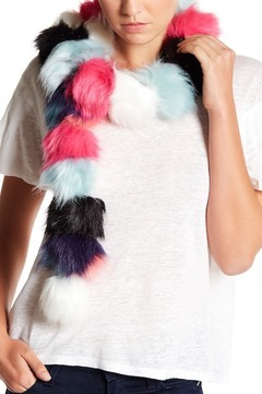 Betsey Johnson Pommy Dearest Faux Fur Muffler Scarf