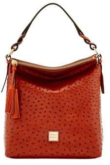 Dooney & Bourke Ostrich Small Sloan Bag. - COGNAC - STYLE