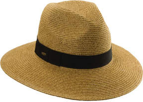 Scala Women's LP122 Paper Braided Fedora with Ribbon