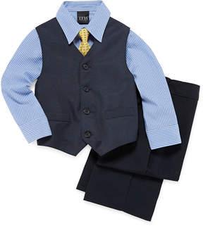 JCPenney TFW Deco Plaid 4-pc. Vest Set - Boys 4-10