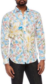 Ganesh Linen Abstract Floral Shirt