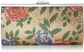 Jessica McClintock Laura Floral Mesh Framed Clutch