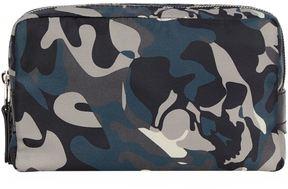 Alexander McQueen Camouflage Print Double Zip Washbag
