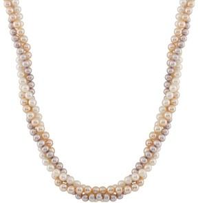 Bella Pearl Multi Color Pearl Necklace