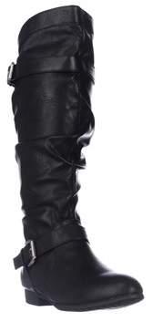 Rampage Basking Flat Mid-calf Boots, Black.