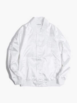 Have A Good Time Satin Raglan Jacket - White