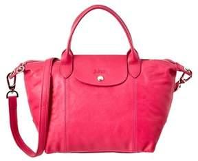 Longchamp Le Pliage Cuir Leather Handbag. - PINK - STYLE