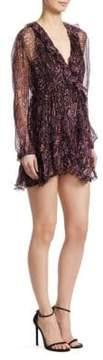 IRO Giala Printed Ruffle Dress