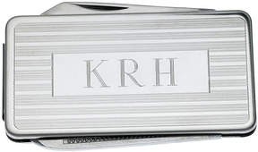 Asstd National Brand Personalized Stainless Steel Money Clip with Knife and File