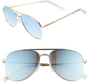 Le Specs Women's Kingdom 57Mm Polarized Aviator Sunglasses - Bright Gold