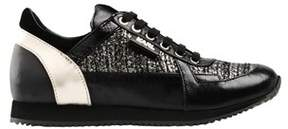 Karl Lagerfeld Women's Black Leather Sneakers.