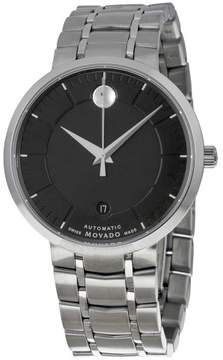 Movado 1881 Automatic Black Dial Stainless Steel Watch 0606914