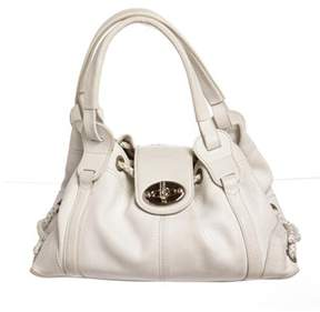 Mulberry White Leather Medium Shoulder Handbag.
