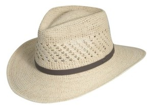 Scala Men's Straw Outback Hat