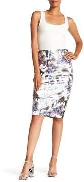 ECI Floral Printed Midi Skirt