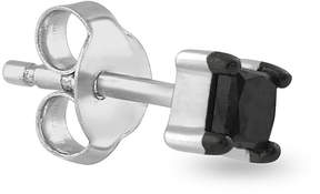 Black Diamond FINE JEWELRY Mens 1/8 CT. T.W. Color-Enhanced 14K White Gold Stud Earring