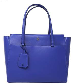 Tory Burch Women's Parker Leather Top-Handle Bag Tote - Songbird / Royal Navy - SONGBIRD / ROYAL NAVY - STYLE