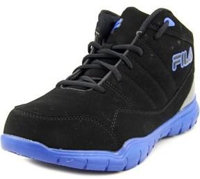 Fila Jump Flex Youth Round Toe Leather Black Basketball Shoe.