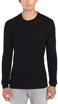 ATM Anthony Thomas Melillo Felt Patch Crew Sweater (Men's)