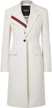 Calvin Klein Grosgrain-trimmed Twill Blazer - White