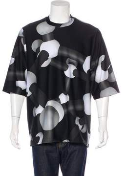 Christopher Kane Molecule Print Neoprene T-Shirt w/ Tags