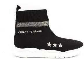 Chiara Ferragni Black Knitwear Sock Sneakers