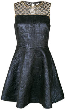 Amen flared dress with beaded front