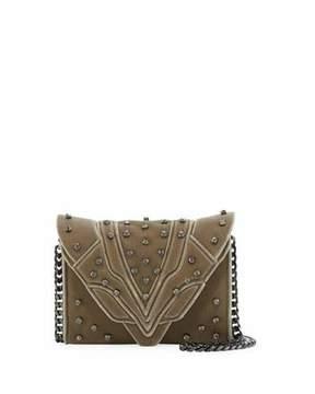 Elena Ghisellini Felina Mignon Small Velvet Crossbody Bag