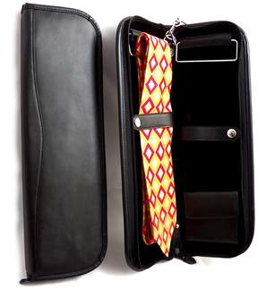 Bey-Berk Leather Travel Tie Case