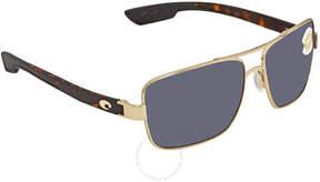 Costa del Mar North Turn Grey 580P Rectangular Sunglasses NTN 64 OGP